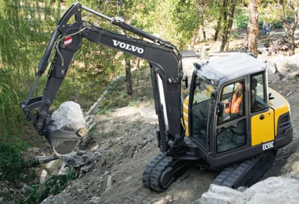 South Coast Plant hire: VOLVO EC55B 5.5T EXCAVATOR